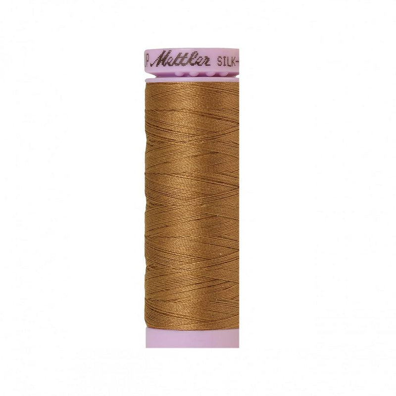 Dark Tan Silk-Finish 50wt Solid Cotton Thread - 164yd - ineedfabric.com