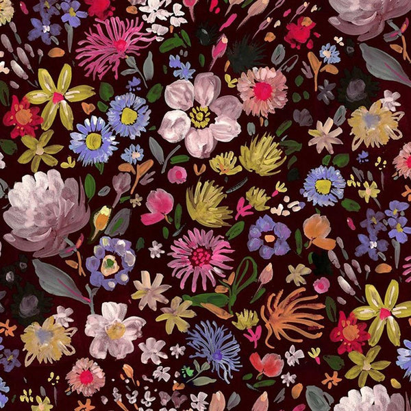 Dear Stella Autumn Floral Minky Fabric - Multi - ineedfabric.com