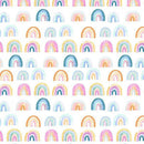 Dear Stella Rainbow Minky Fabric - White - ineedfabric.com