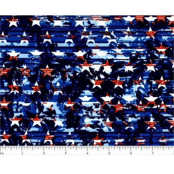 Distressed American Flag Fabric - ineedfabric.com