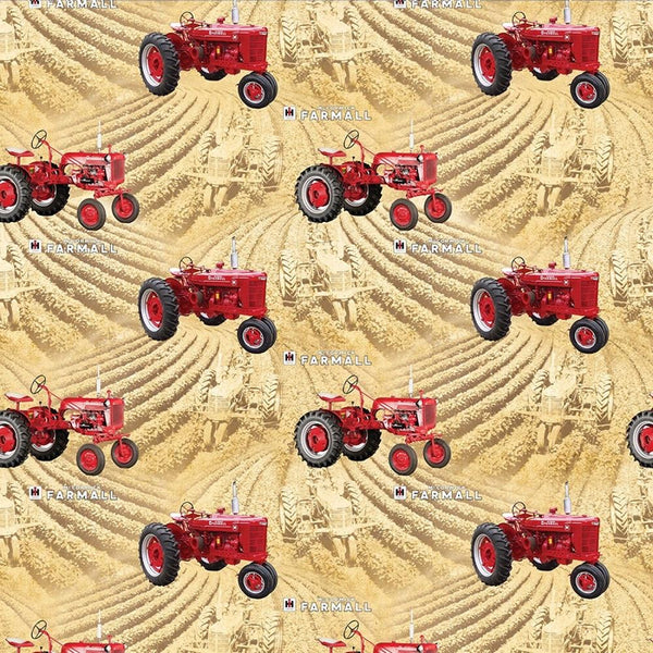 Farmall Country Living Wheat Fields Fabric - ineedfabric.com