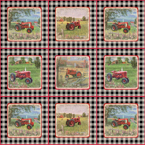Farmall Sweet Farmhouse Gingham Patch Fabric - ineedfabric.com