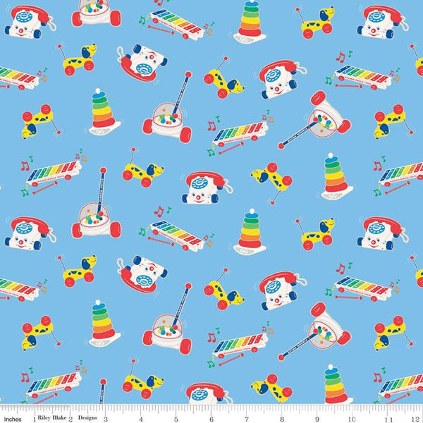 Fisher-Price Toys Fabric - Blue - ineedfabric.com