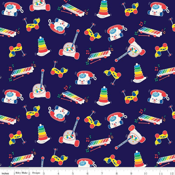 Fisher-Price Toys Fabric - Navy - ineedfabric.com