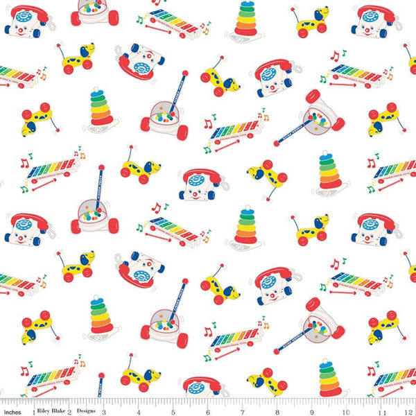 Fisher-Price Toys Fabric - White - ineedfabric.com