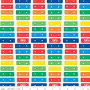 Fisher-Price Xylophone Fabric - White - ineedfabric.com