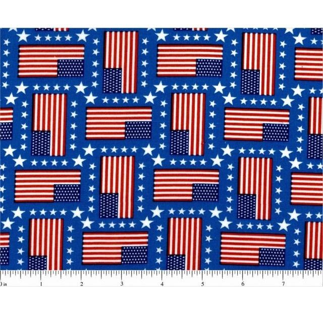 Flags and Stars Fabric - ineedfabric.com