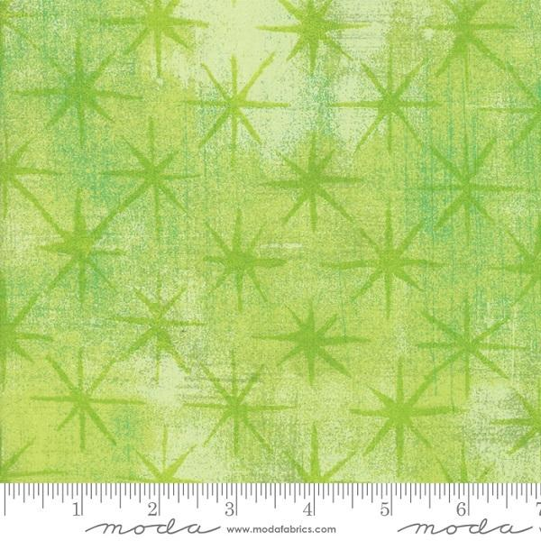 Grunge Seeing Stars Metallic Fabric - Key Lime - ineedfabric.com
