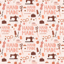 Hand Made Sewing Fabric - Pink - ineedfabric.com