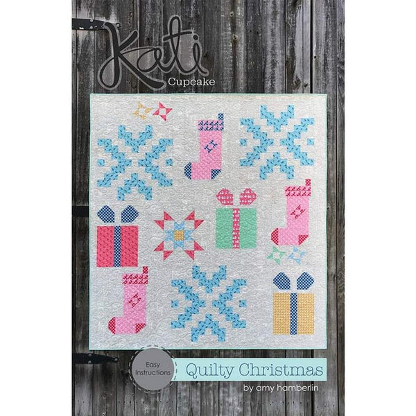 Kati Cupcake Quilty Christmas Quilt Pattern - ineedfabric.com