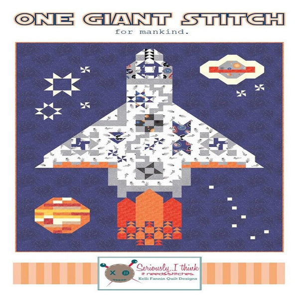 Kelli Fannin One Giant Stitch Quilt Pattern - ineedfabric.com