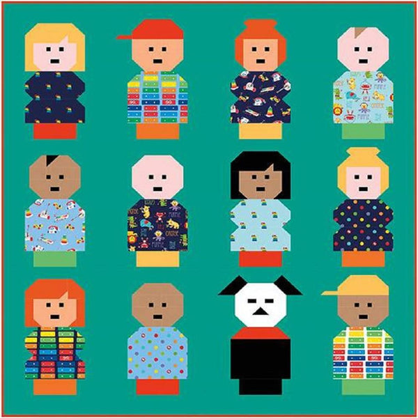 Kelli Fannin Vintage Little People Quilt Pattern - ineedfabric.com