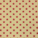 Large Antique Stars Fabric - Red - ineedfabric.com