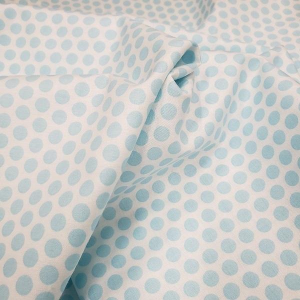 Lots of Dots Fabric - Blue on White - ineedfabric.com