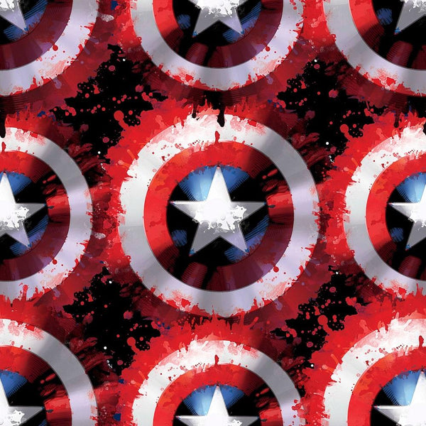 Marvel Captain America Shield Fleece Fabric - ineedfabric.com