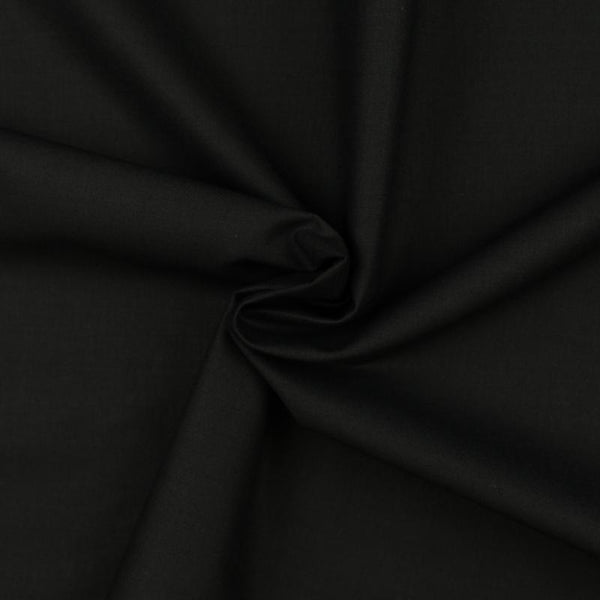Moda Bella Silky Fabric - Soft Black - ineedfabric.com