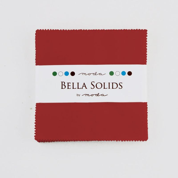 "Moda Bella Solids Christmas Red 5"" Charm Pack - 42pk - ineedfabric.com"