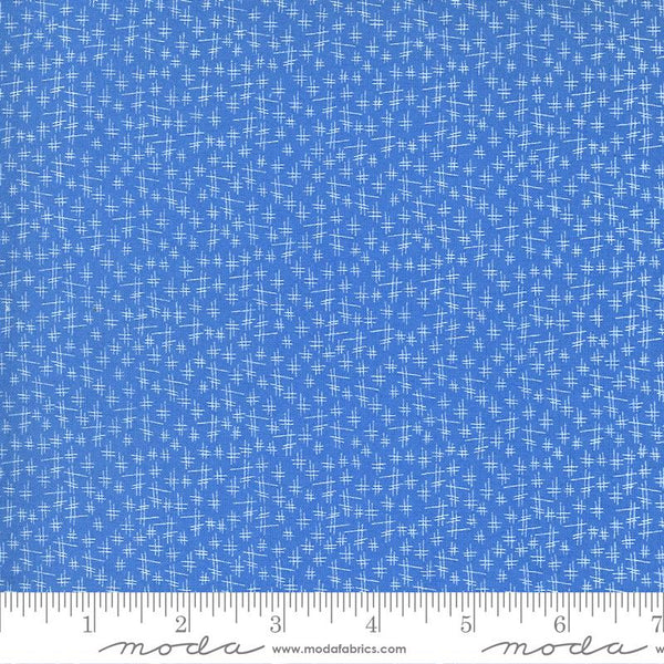 Moda, Chicken Scratch Fabric - Cornflower - ineedfabric.com