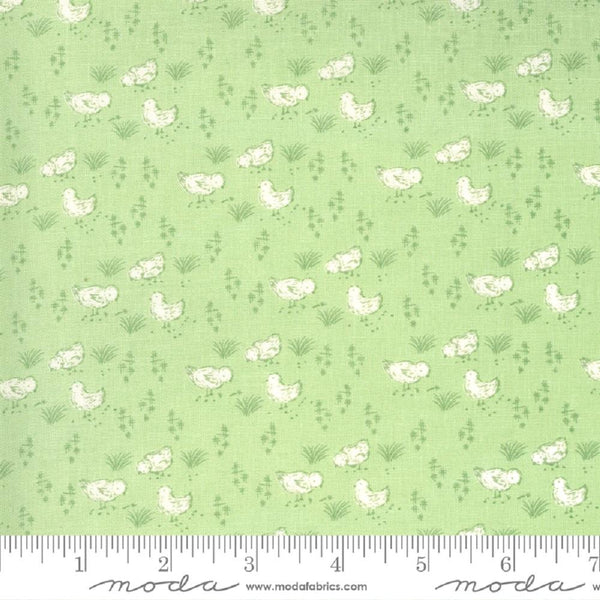 Moda, Here Chick Chick Fabric - Meadow - ineedfabric.com