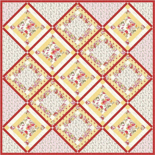 Nancy Zieman Nested 9-Patch Quilt Pattern - ineedfabric.com
