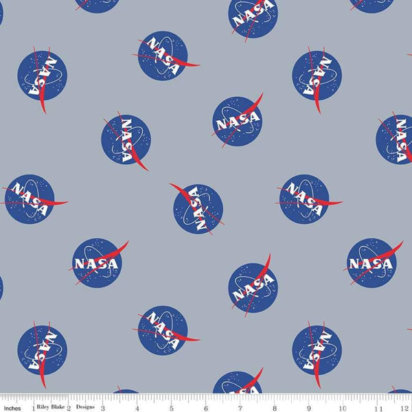 NASA Logos - Gray - ineedfabric.com