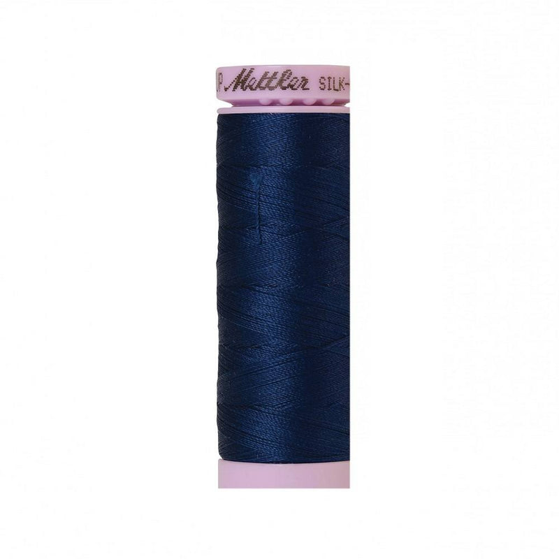 Night Blue Silk-Finish 50wt Solid Cotton Thread - 164yd - ineedfabric.com