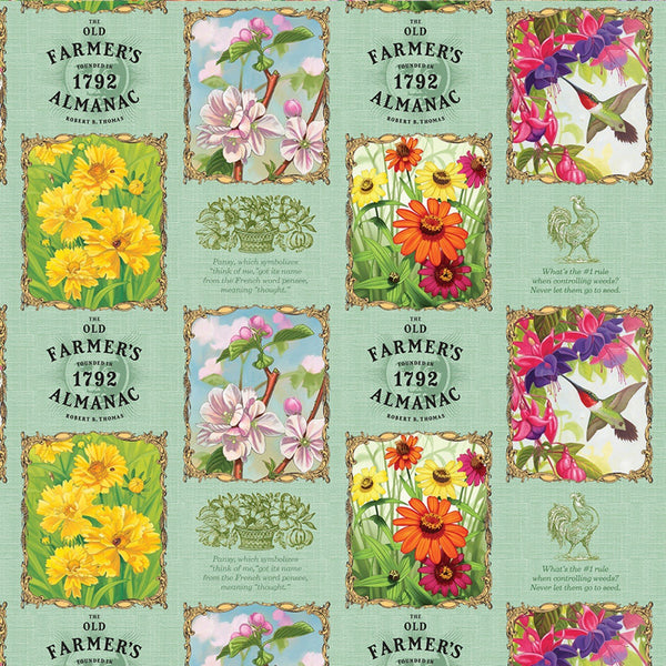 Old Farmers Almanac Floral Patch Fabric - ineedfabric.com