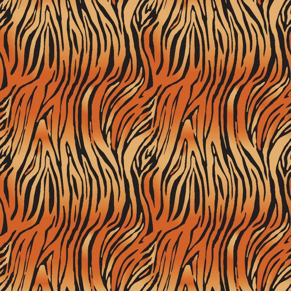 On Safari Bengal Fabric - Orange - ineedfabric.com
