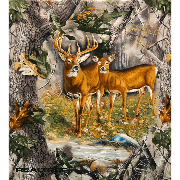 Realtree Deer Fabric Panel, Terry Doughty - ineedfabric.com