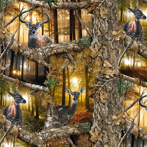 Realtree Edge Daybreak Animals Fabric - ineedfabric.com