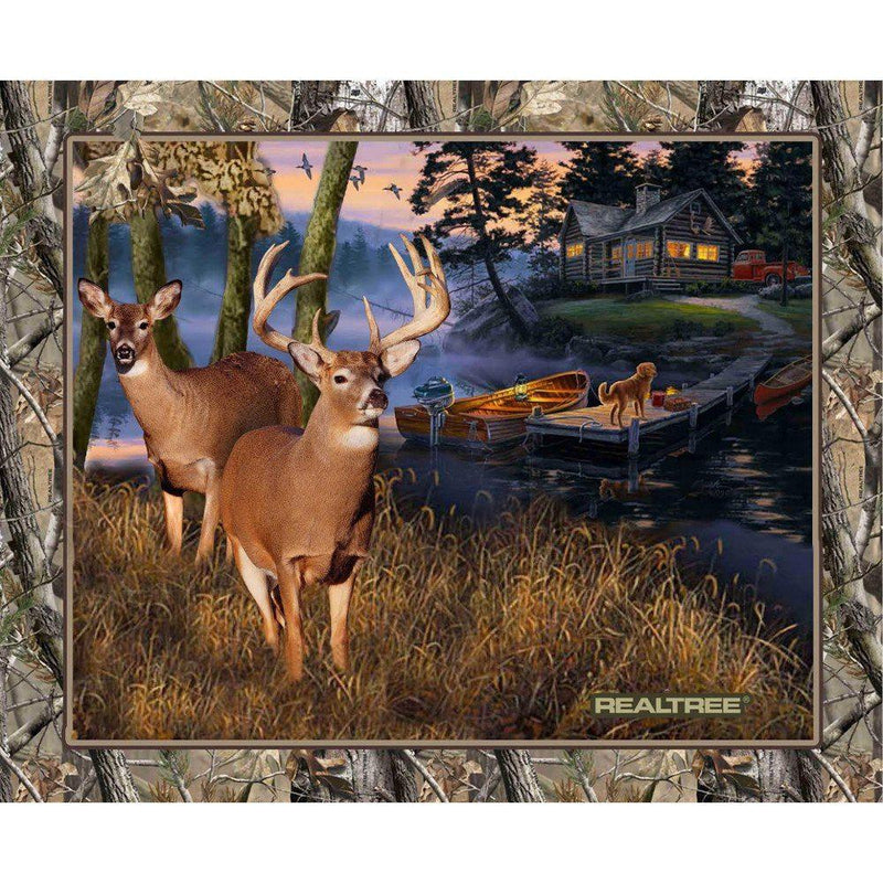 Realtree Lakeside Sunset Fabric Panel - ineedfabric.com