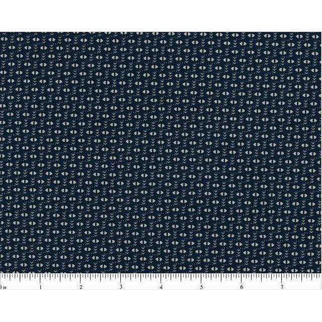 Remember When Fabric - Navy/Cream - ineedfabric.com