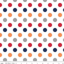 Riley Blake, Medium Dot Fabric - Boy - ineedfabric.com