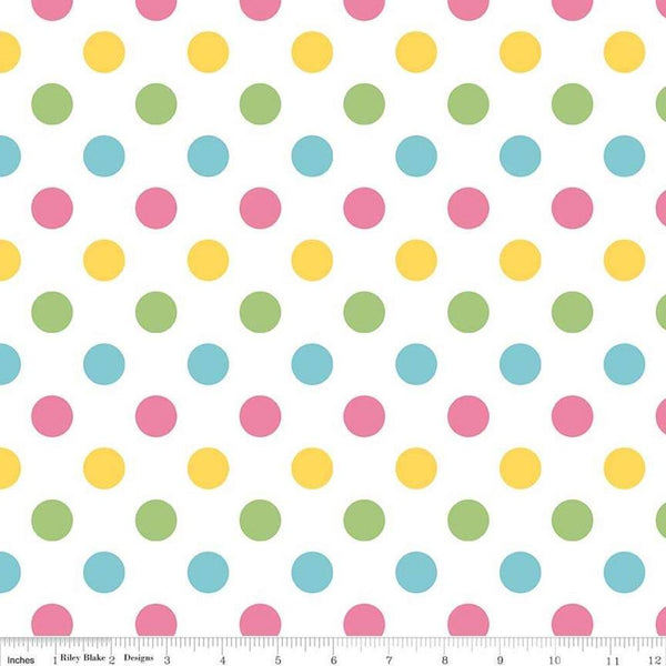 Riley Blake, Medium Dot Fabric - Girl - ineedfabric.com