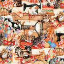 Robert Kaufman, Sewing Kittens Fabric - Multi - ineedfabric.com