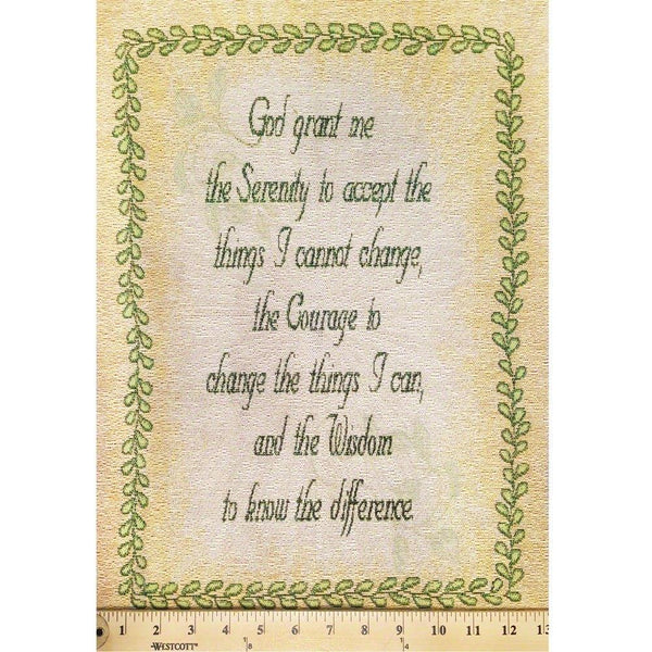 Serenity Prayer Mini Tapestry Fabric Panel - ineedfabric.com