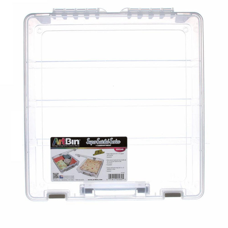 Single Compartment Super Satchel Box - Clear - ineedfabric.com