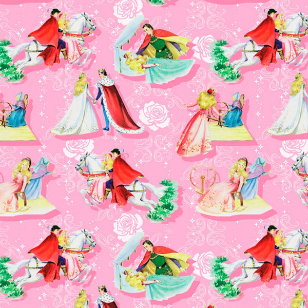 Sleeping Beauty Happily Ever After Allover Fabric - ineedfabric.com