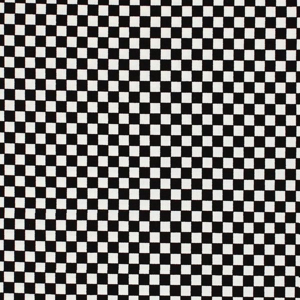 Small Checkerboard Fabric - Black - ineedfabric.com