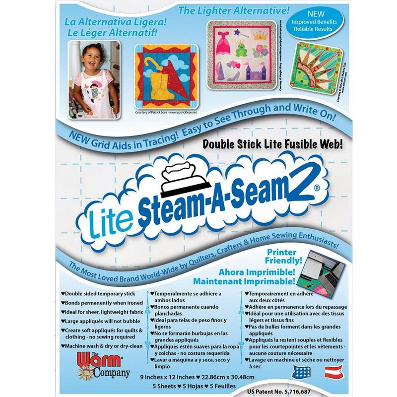 Steam A Seam 2 Lite, 9in x 12in - 5ct - ineedfabric.com