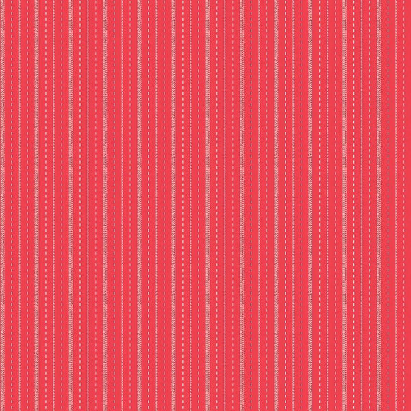 Sugarhouse Park Stripe Fabric - Red - ineedfabric.com