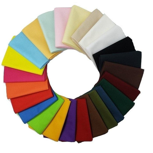 Supreme Solids Fat Quarter Fabric Sampler Bundle (25pk) - ineedfabric.com