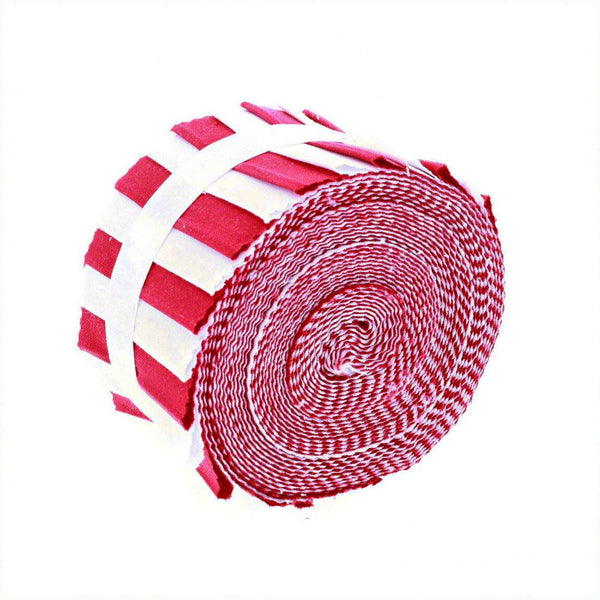 Supreme Solids, Red and White Fabric Roll - 20 Strips - ineedfabric.com