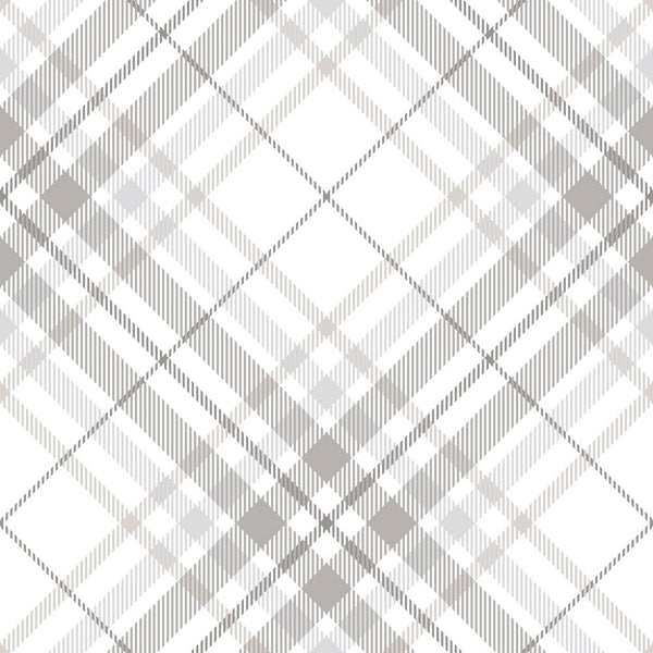 Tartan Plaid Fabric - Grey - ineedfabric.com