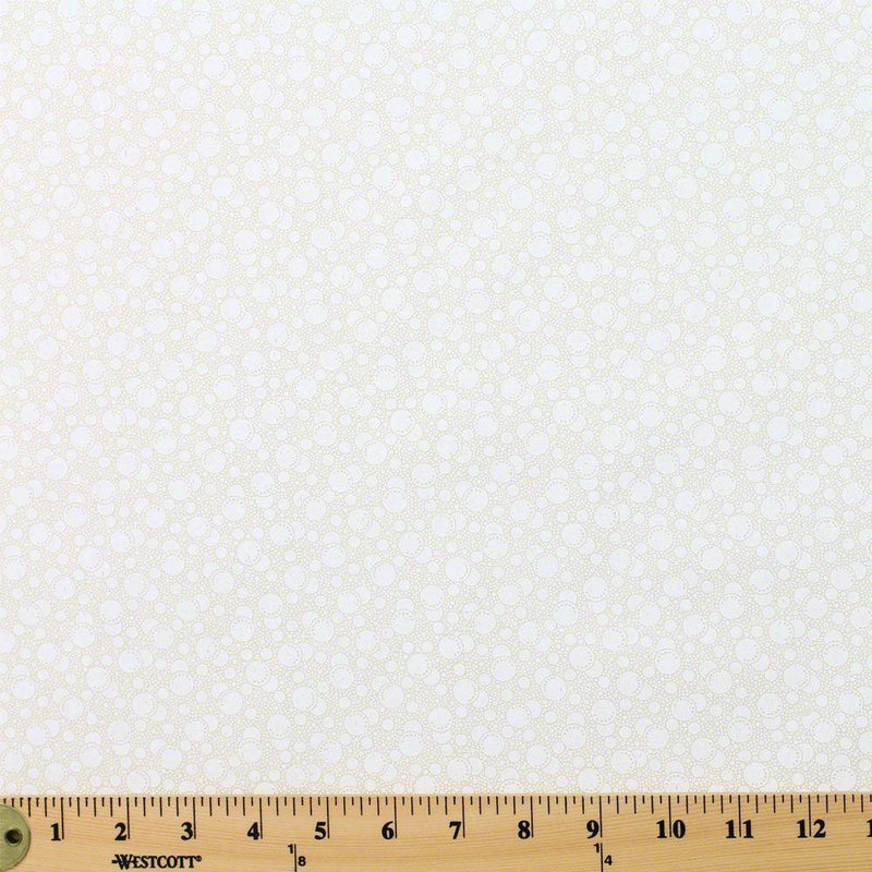 Tone on Tone, Bubbles, White on Tan Fabric - ineedfabric.com