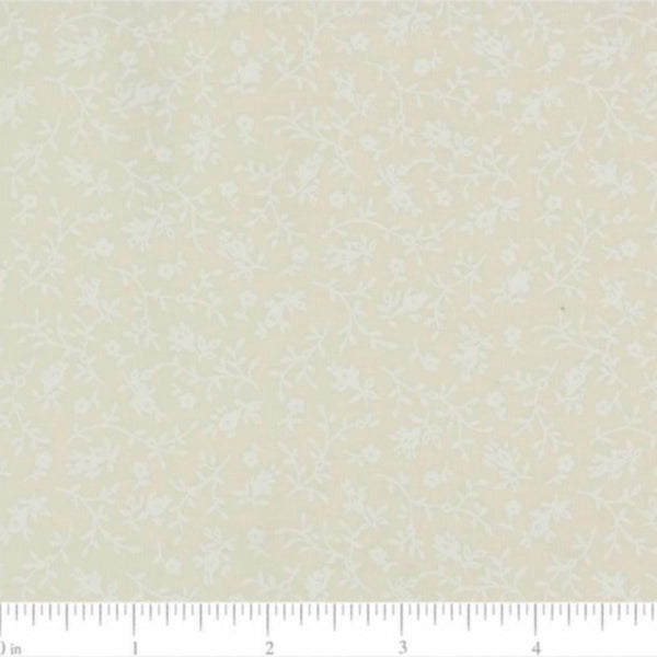 Tone on Tone, Neutral Floral Fabric - 45 in - ineedfabric.com