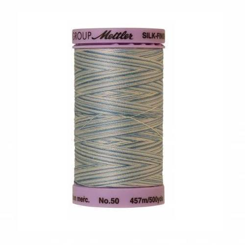Tranquil Blue Silk-Finish 50wt Variegated Cotton Thread - 500yds - ineedfabric.com