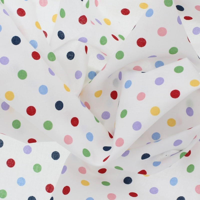 Treasures from the Attic, Medium Polka Dot Fabric - Multicolored - ineedfabric.com