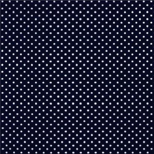 Treasures from the Attic, Small Polka Dot Fabric - Navy - ineedfabric.com
