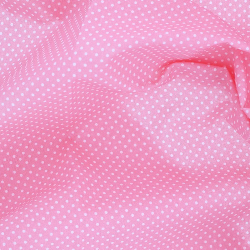 Treasures from the Attic, Small Polka Dot Fabric - Pink - ineedfabric.com